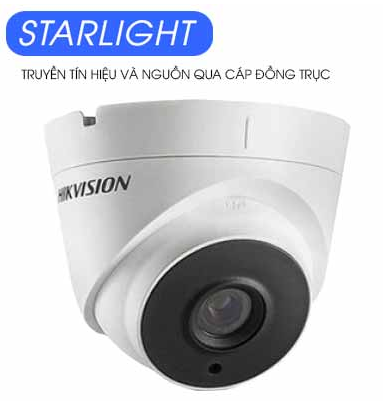 Camera HDTVI HD, HIKVISION DS-2CE56D8T-IT3E 2.0Mp, Dome, Vỏ kim loại, STARLIGHT